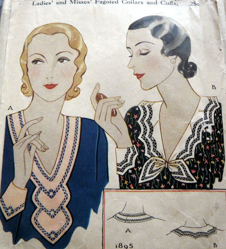 McCall 1895 | ca. 1931 Ladies' and Misses' Fagoted Collars and Cuffs