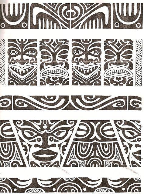 Maori tattoo kirituhi Polinesia Polynesian Tatuaje Pinterest