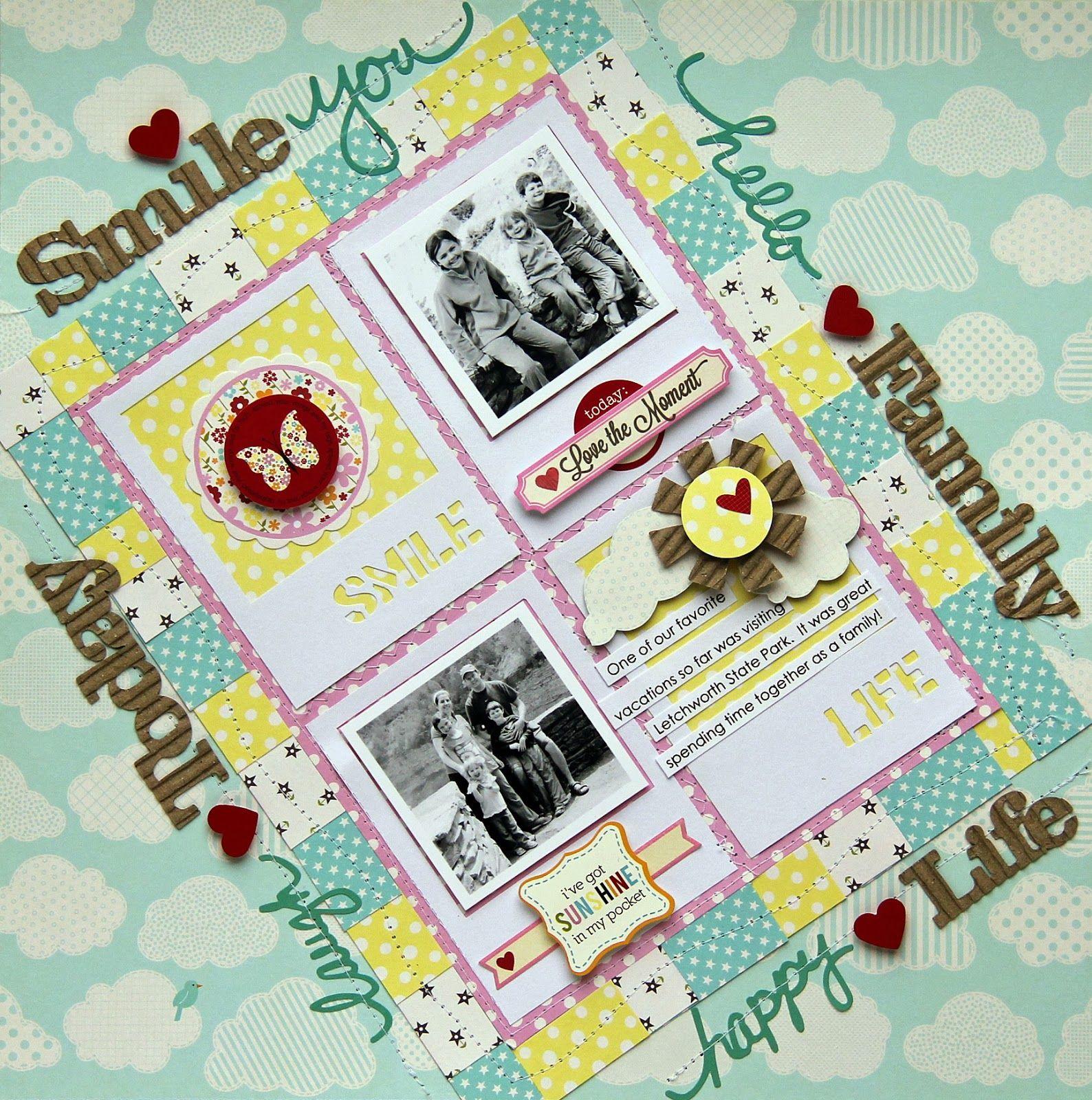 #papercraft #scrapbook #layout  Luv-a-Lot Land: A Jillibean Soup Layout by Jodi Wilton.