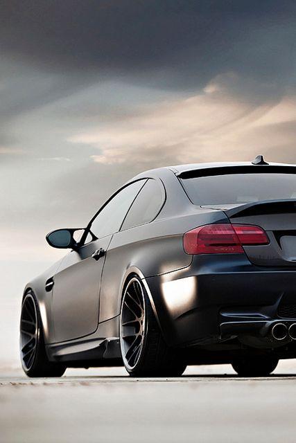 Bmw E92 M3 Matte Black On Bbs Rims Autos Deportivos Auto De