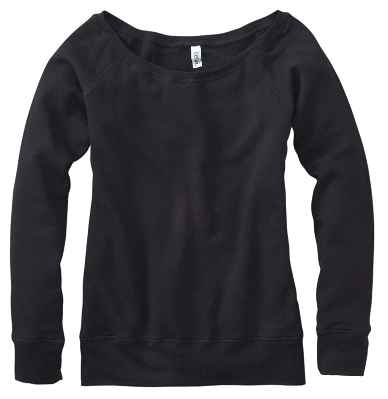 Bella Slouchy Fleece Black Tri-blend // College Hill Custom Threads  $30.00