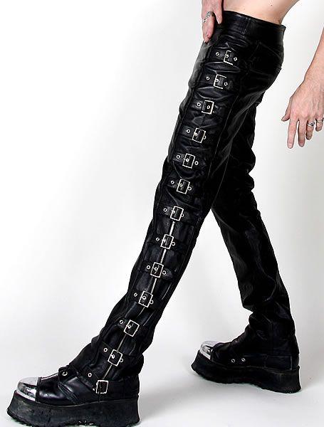 Punk Rock Gothic Alternative Fetish Mens Leather Pants