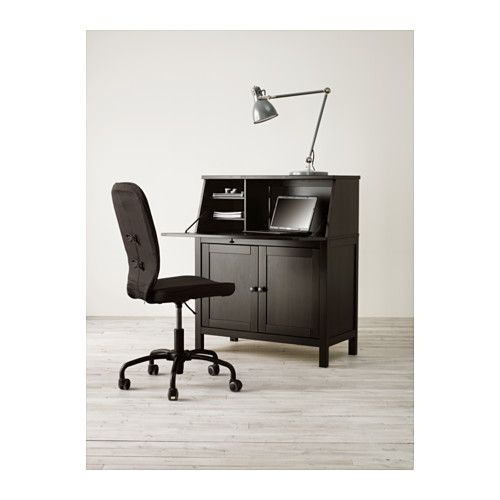 Hemnes Secrétaire Brun Noir Hemnes Ikea Et Aménagement