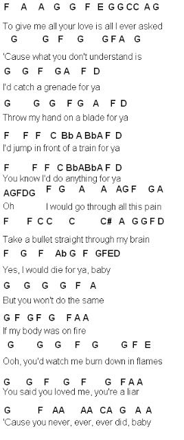 Flute Sheet Music Grenade Musickottk Pinterest Sheet Music