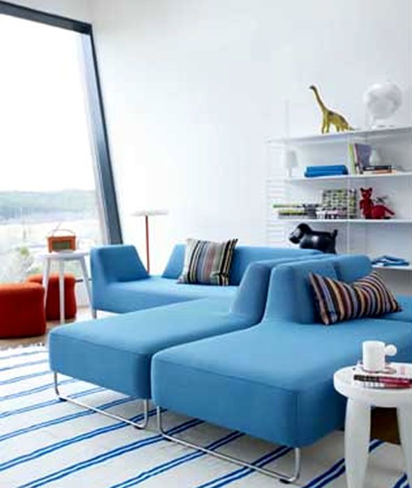 Wonderful Schneidermans Furniture Design: Awesome Contemporary Scandinavian Furniture Blue White