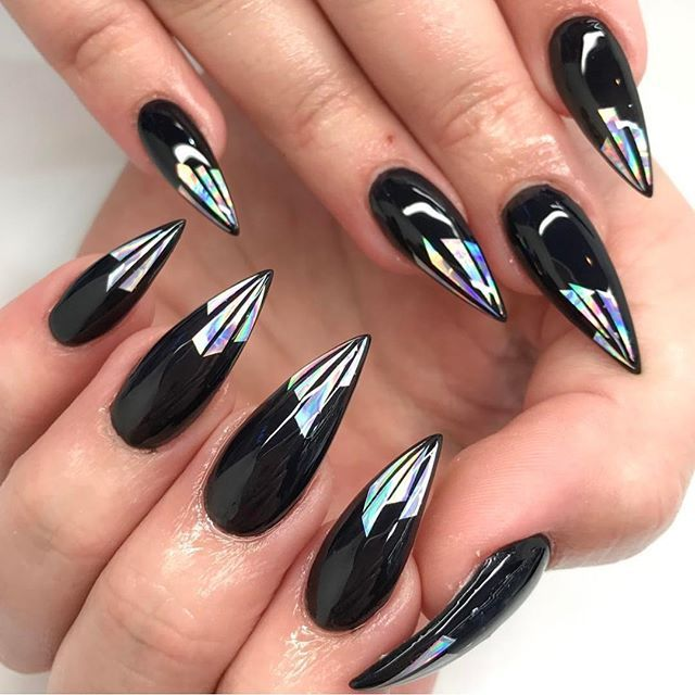 Pinterest Pureher0ine With Images Stiletto Nails Designs