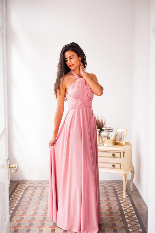 Vestido largo hecho a medida, elije tu color | Vestidos para damas ...