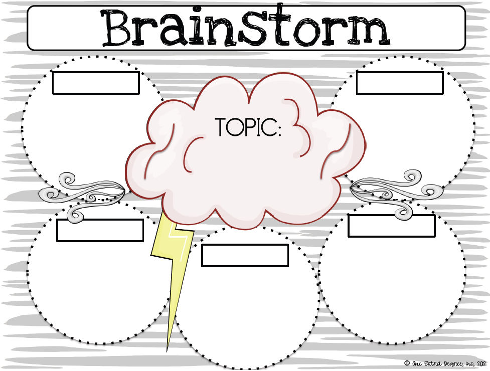 One Extra Degree-brainstorming graphic organizer | writing ...