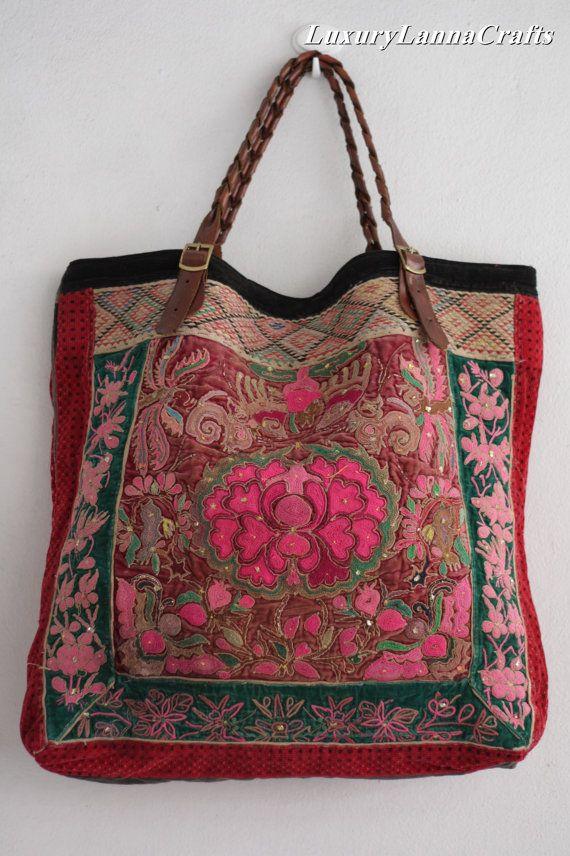 Luxury Lanna Hmong vintage tote bag ethnic 2 by LuxuryLannaCrafts, $199.00