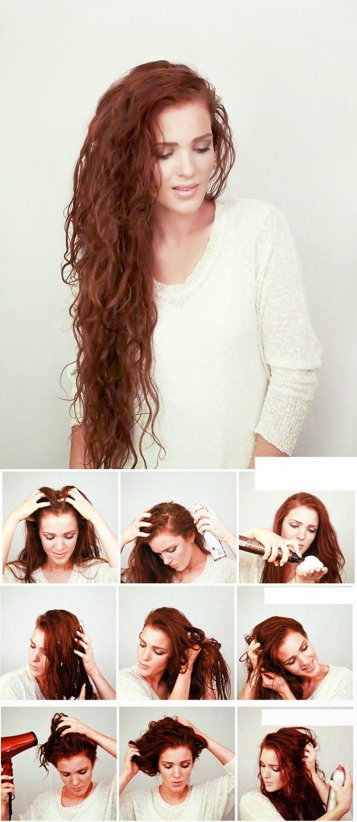 5 Minute Beachy Waves Hair Tutorial Scrunched Hair Hair