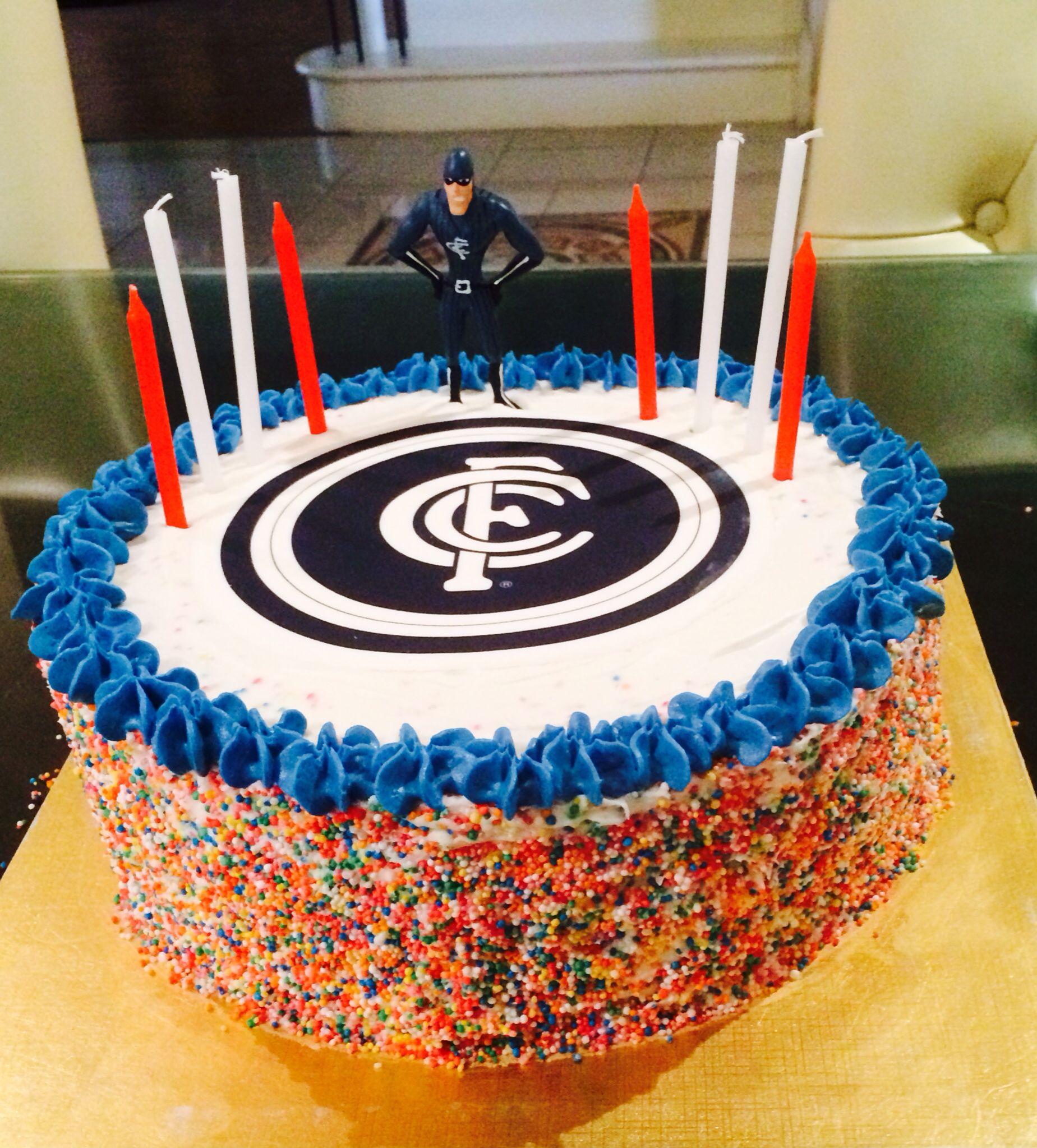 Carlton Football Club Cake I Made
