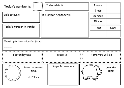 KS1 Maths Practice Sheets | Primary: National Tests UK | Pinterest ...