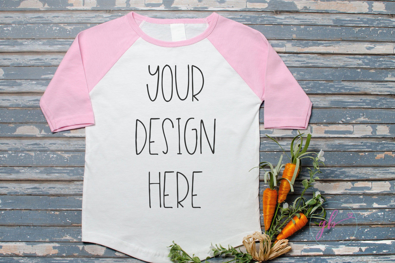 Download Pink Raglan Mockup T Shirt Mockup Spring Easter Mock Up Kid Etsy Shirt Mockup Pink Raglan Kids Shirts