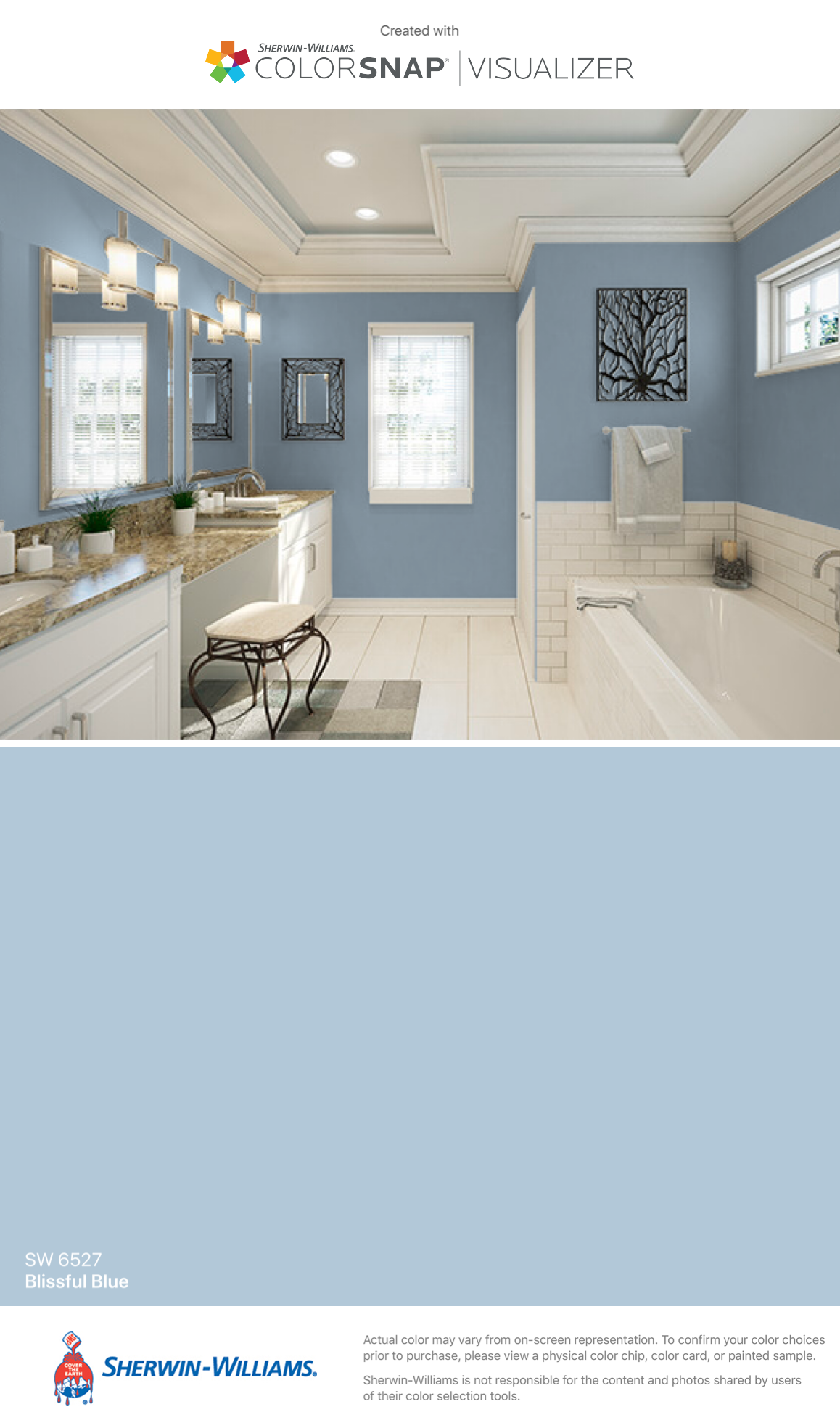 I Found This Color With Colorsnap Visualizer For Iphone By Sherwin Williams Blissful Blue Sw Paint Colors For Home Bedroom Paint Colors Master Bedroom Paint