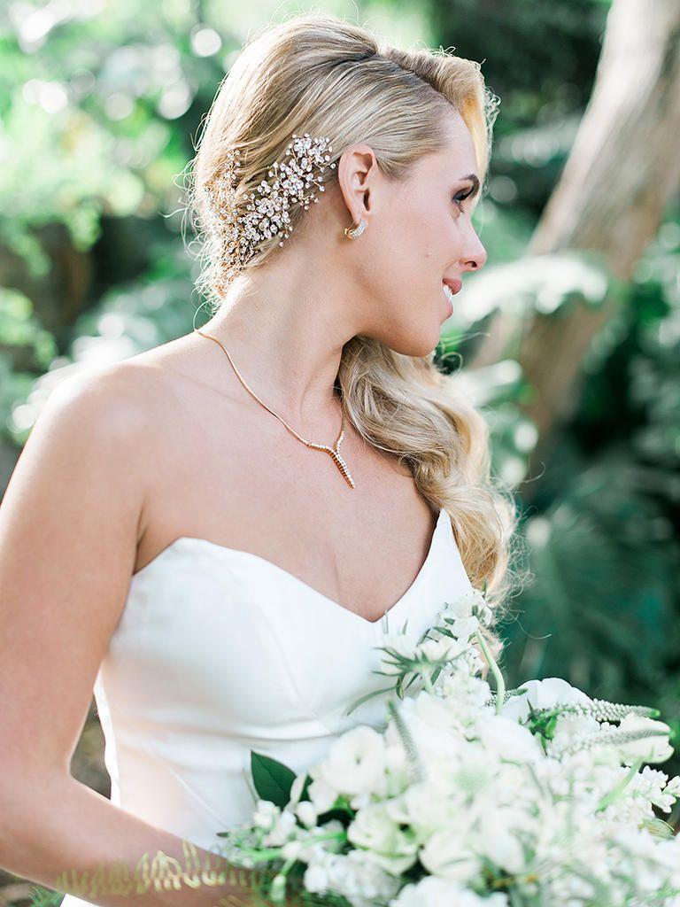 17 sideswept wedding hairstyles for long hair | wedding