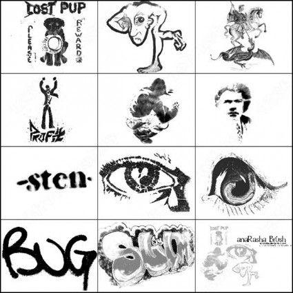 graffiti brush | free ps brushes | Photoshop face, Photoshop