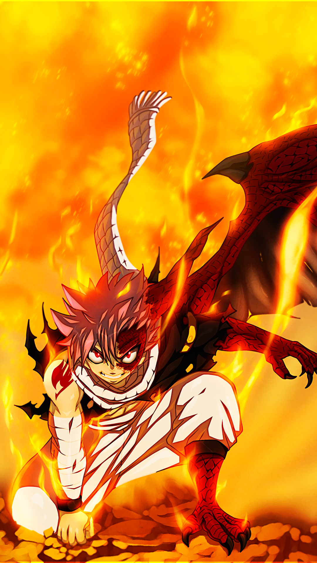 anime fairy tail natsu dragneel fire mobile wallpaper