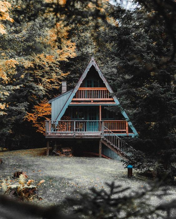 Pin by K Ballay on Home: Cottages | A frame cabin, Cabin ...