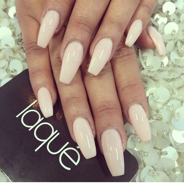 Cream Colored Nails Beige Nails Coffin Shape Nails Laque Nail Bar