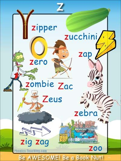 4 letter words that start with z z words z phonics poster free amp printable words 4431