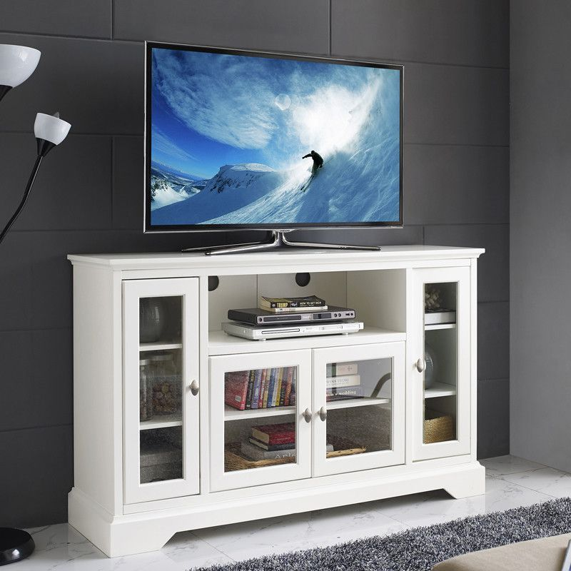Display Your Entertaining Space In Style With This Highboy Media Stand. Its  Four Storage Cabinets