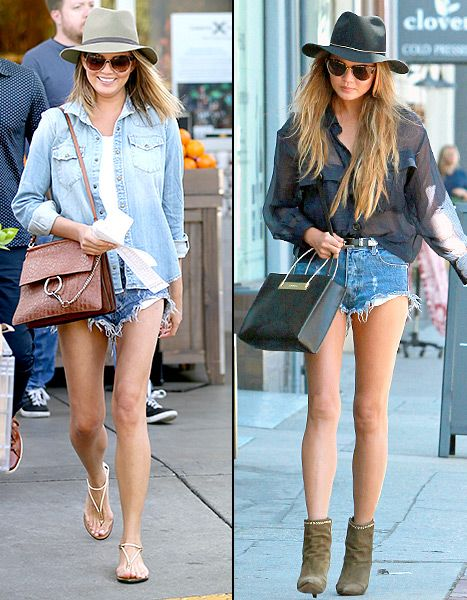 Chrissy Teigen dressed her short shorts up and down in April 2015.