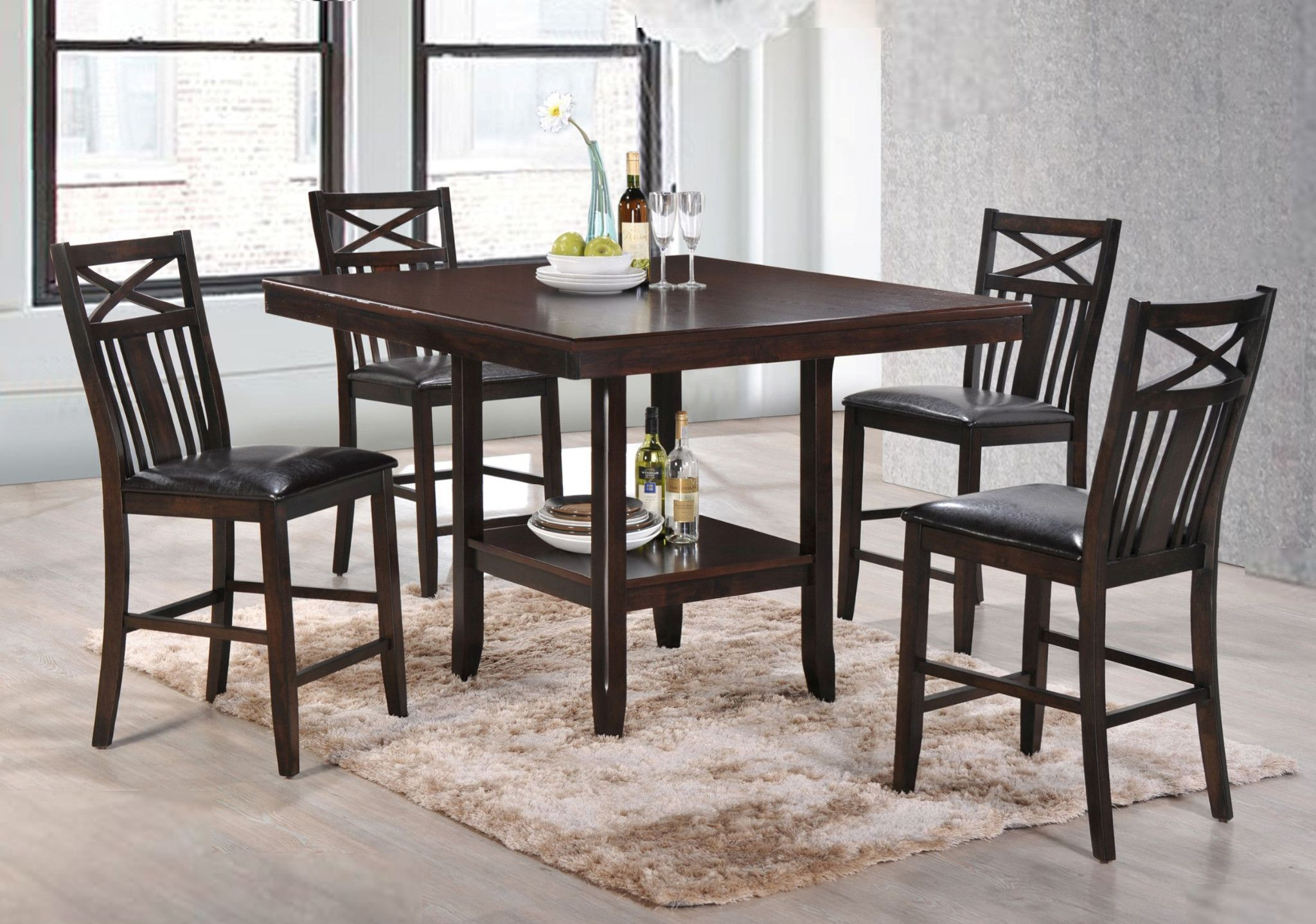 Meghan 5 Piece Counter Height Table And 4 Chairs 549 00 Table 48