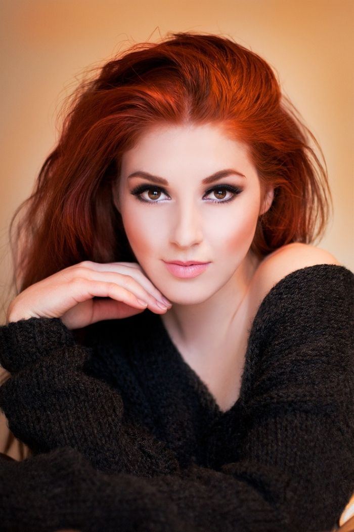 Valuable opinion redhead with brown eyes makeup