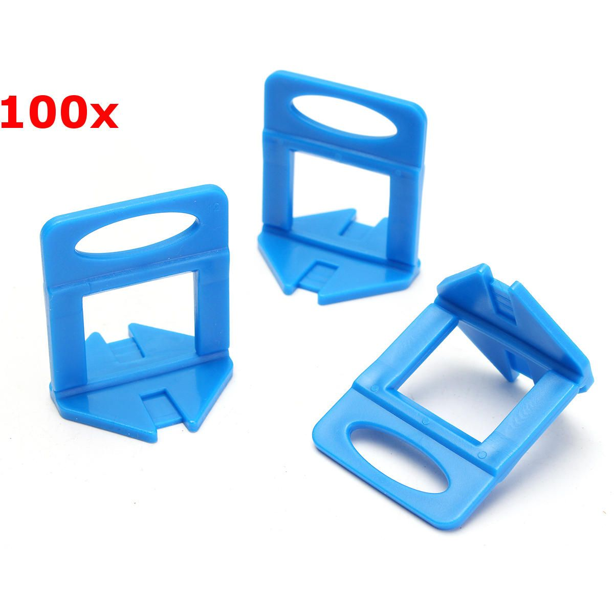 100pcs Leveler Ceramic Clips Spacers Plastic Tile Wall Floor Leveling System Tool Wall Tiles Used Woodworking Tools Tiles