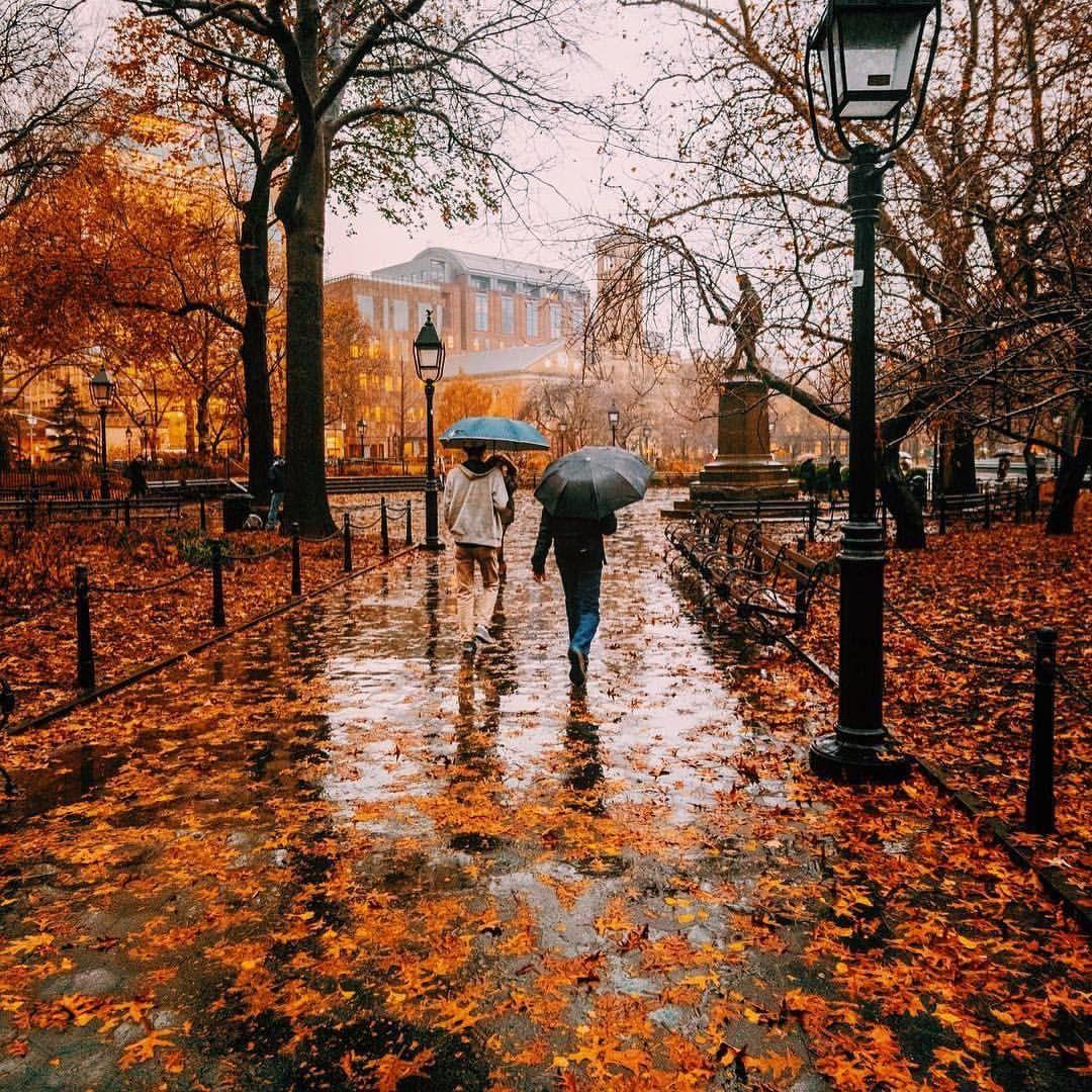 Resultado de imagen de bajo la lluvia en el parque