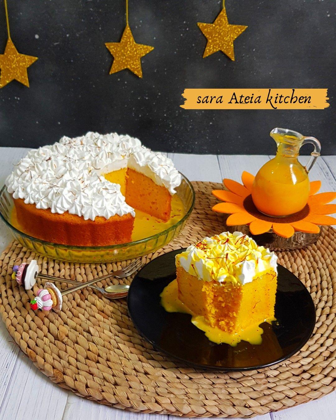 Milk Cake With Saffron كيك الحليب بالزعفران Milk Cake Cake Desserts