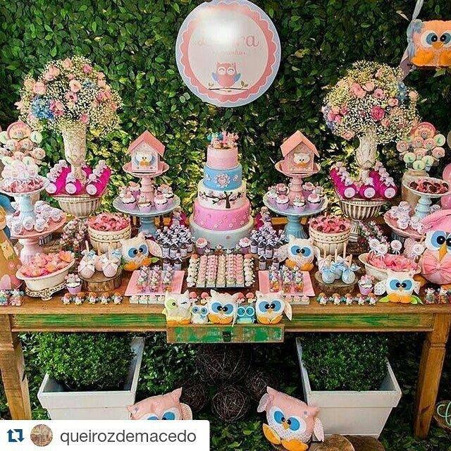 Decoración para fiestas con temática de buhos Owl themed parties - decoracion de cumpleaos