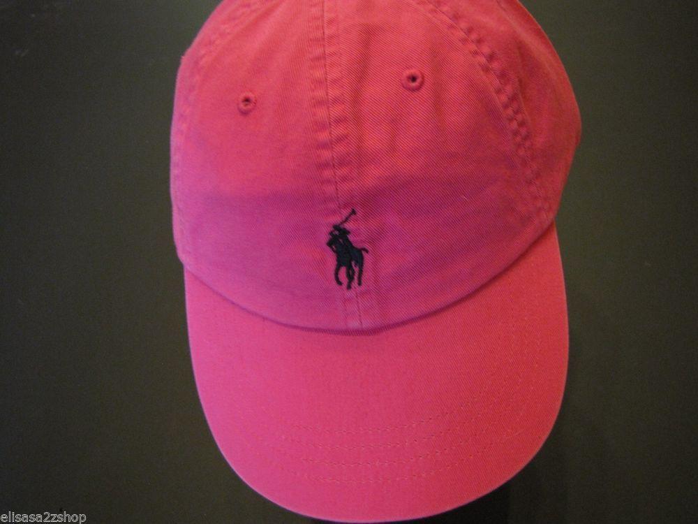 Men's Polo Ralph Lauren hat cap golf casual pink navy 6585767 adjustable NEW