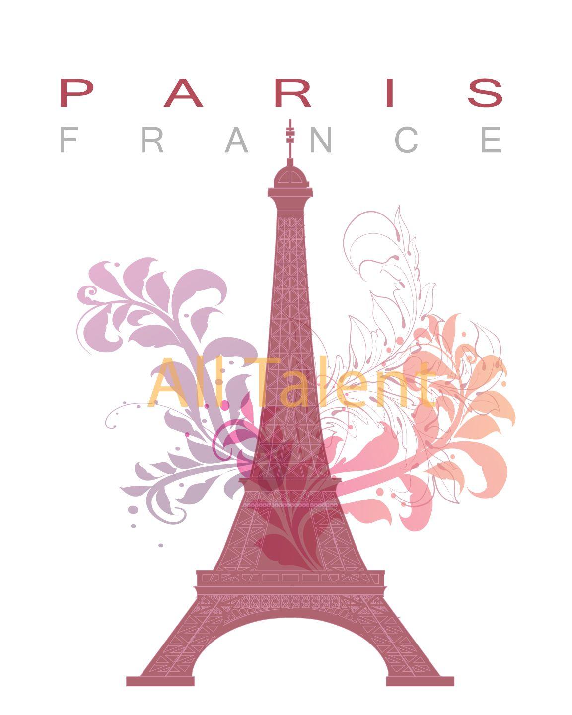 Paris wall art, Paris print, Paris decor,  Eiffel Tower poster, wall art print, Instant download printable art.  All available at http://www.alltalent.etsy.com
