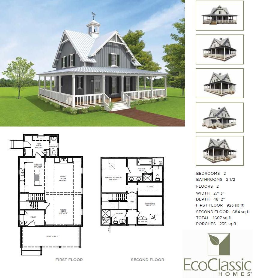 Country living green house plans for Green home floor plans