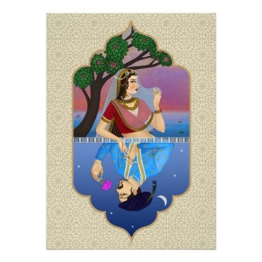 Indian Mughal Wedding Card Invitiation