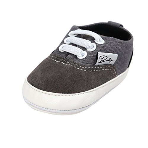 Witspace Infant Baby Boys Girls Soft Sole Crib Shoes Newborn Toddler Kids Leather Prewalker Sneakers