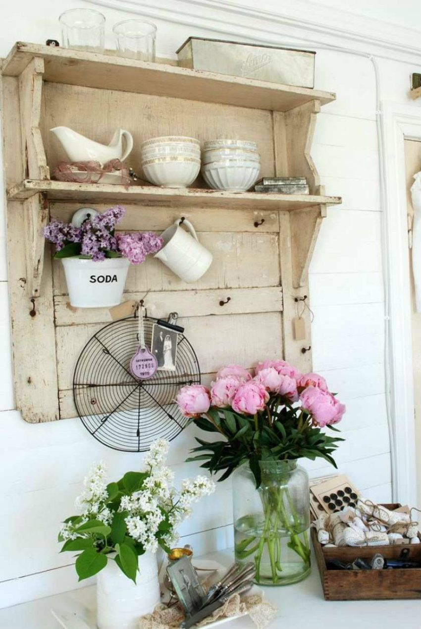 bringen sie den fr hling in ihr haus vintage shabby chic regal m bel k che kitchen. Black Bedroom Furniture Sets. Home Design Ideas