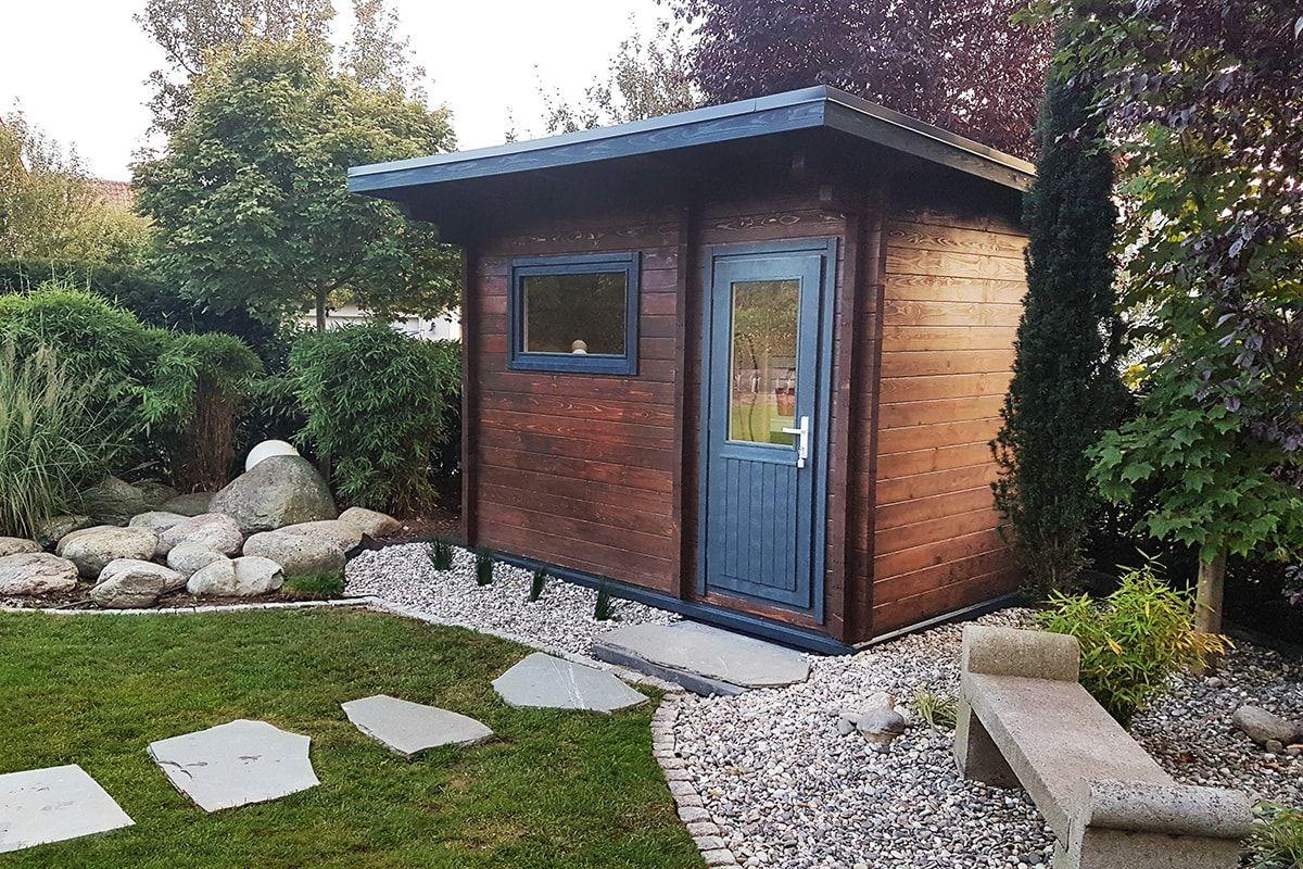 ANGEBOT: Saunahaus Komfort mit Pultdach und Vorraum | Sauna ...