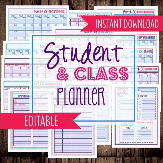 Student Planner-College Planner, Homework Planner, Organizer-17 - student homework planner