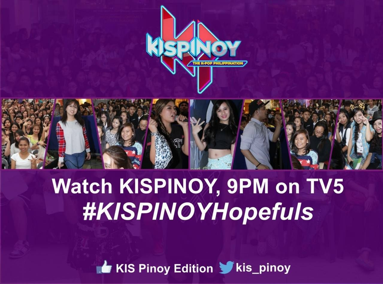 We believe in the power of kpop fans. Join us on Twitter tomorrow and use #KISPINOYHopefuls :)
