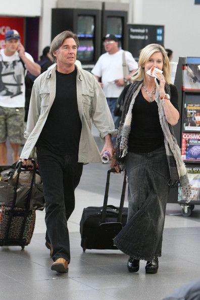 Olivia Newton John and her husband.