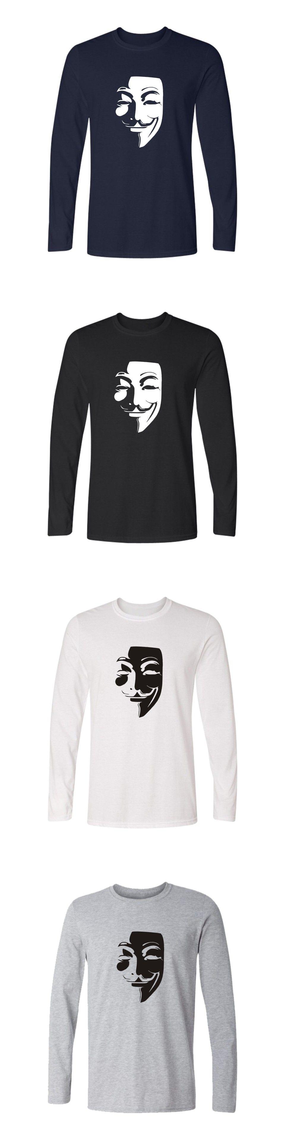 896478c48a471 V for Vendetta Long Sleeve Tee Shirt Men Autumn Fashion Casual Cotton  T-shirt Women Spring Funny T Shirts For Men Plus Size 4XL