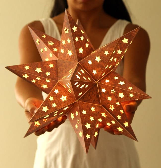 How To Make A Paper Star Lantern It Looks Like Metal Paper