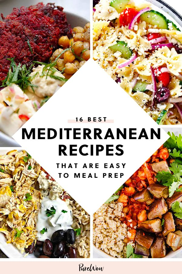 16 Mediterranean Diet Recipes That Are Easy to Meal Prep