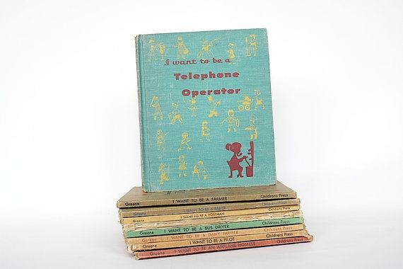 I Want To Be A Telephone Operator  by HappyFortuneVintage on Etsy