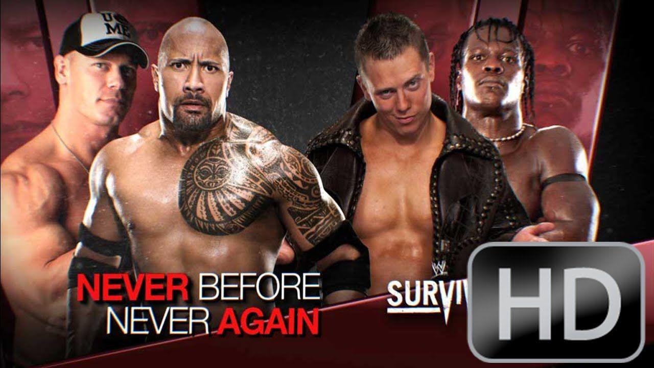Wwe Survivor Series 2011 The Rock And John Cena Vs The Miz And R