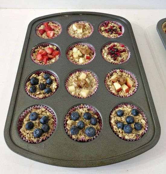 Individual Oatmeal Cups.