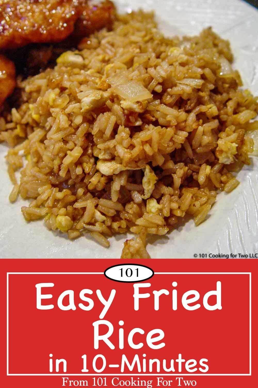 Photo of Einfacher gebratener Reis in 10 Minuten von 101 Kochen für zwei