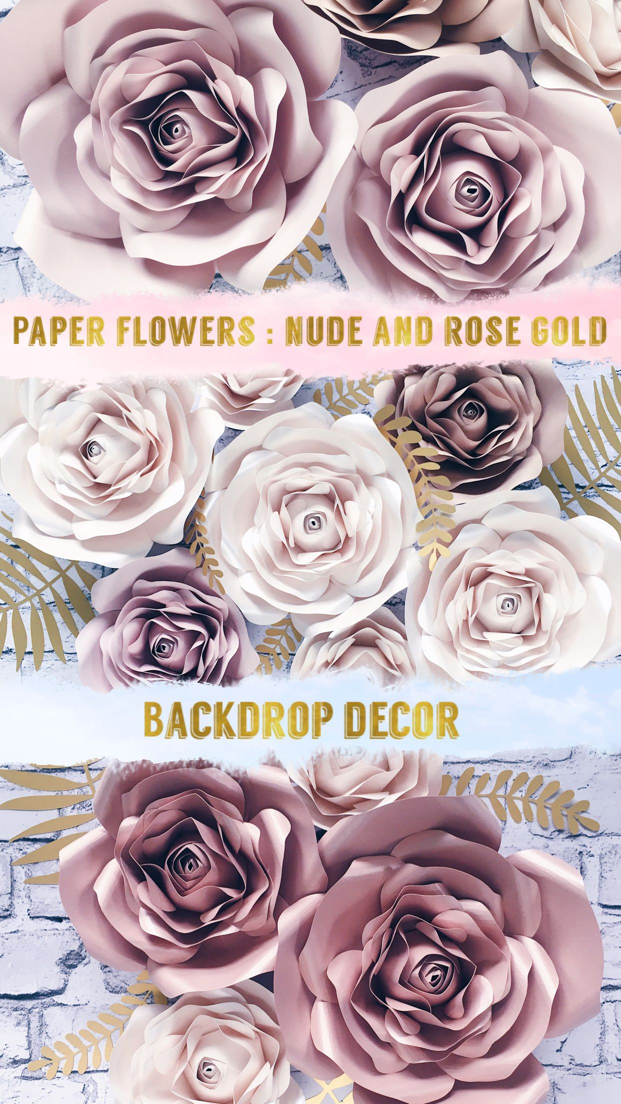 Pin Na Nursery Paper Flowers Wall Decor